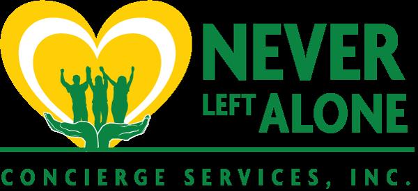never left alone logo